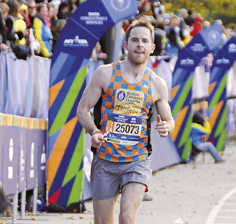 John Competing in the 2016 New York City Marathon